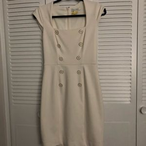 WHMB White Dress with Belt Sz 2